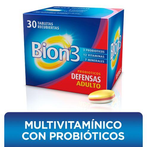 Comprar Bion3 Multivitaminico Con Probioticos X 30 Tabletas