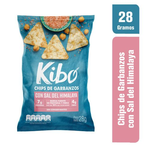 Comprar Chips Kibo Garbanzos Sal Himalaya X 28g