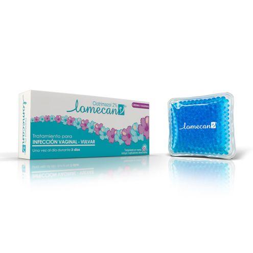 Comprar Lomecan V Crema Vaginal 2% X 20g + Almohada Frio Calor