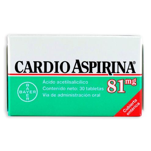 Comprar Cardioaspirina 81mg X 30 Tabletas