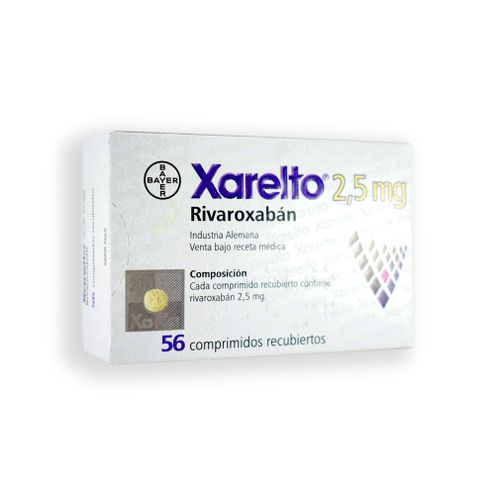 Comprar Xarelto 2.5mg X 56 Tabletas