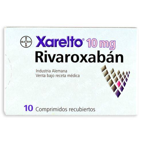 Comprar Xarelto 10mg X 10 Comprimidos