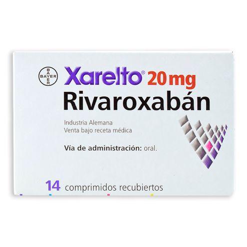 Comprar Xarelto 20mg X 14 Comprimidos