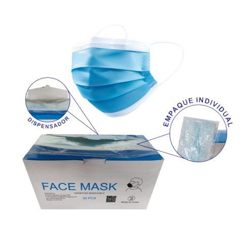 Comprar Tapabocas Face Mask Desechable Empaque Individual X 50und