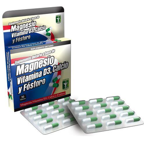 Comprar Magnesio Vitamina D3 Calcio Fosforo Ledmar X 30 Capsulas