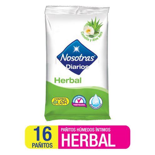 Comprar Pañitos Intimos Nosotras Herbal X 16und