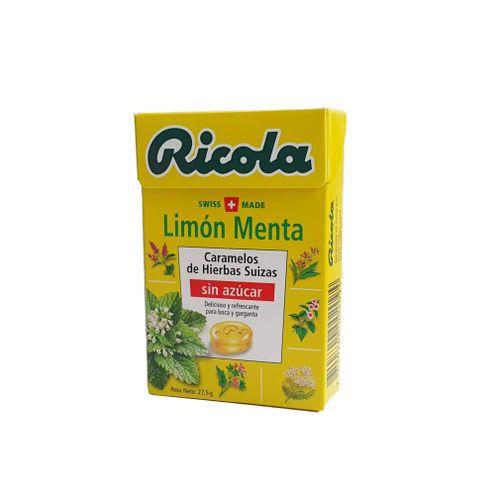 Comprar Caramelo Ricola Limon Menta Sin Azucar X 27.5g