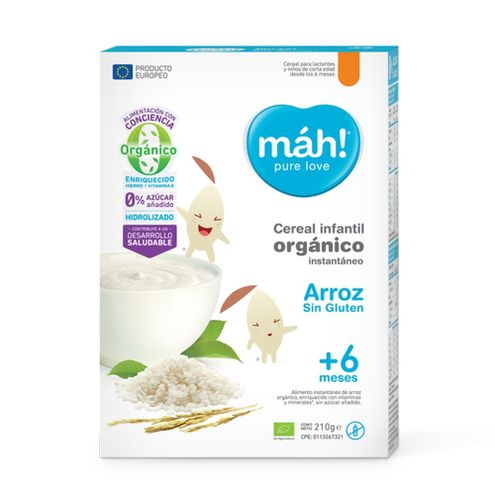 Comprar Cereal Organico Arroz Mah! +6m X 210g