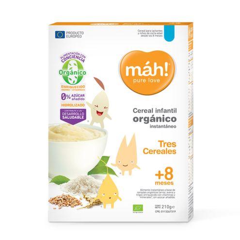 Comprar Cereal Organico Tres Cereales Mah! +8m X 210g