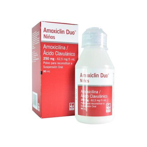 Comprar Amoxiclin Duo Niños 250/62.5mg/5ml X 90ml