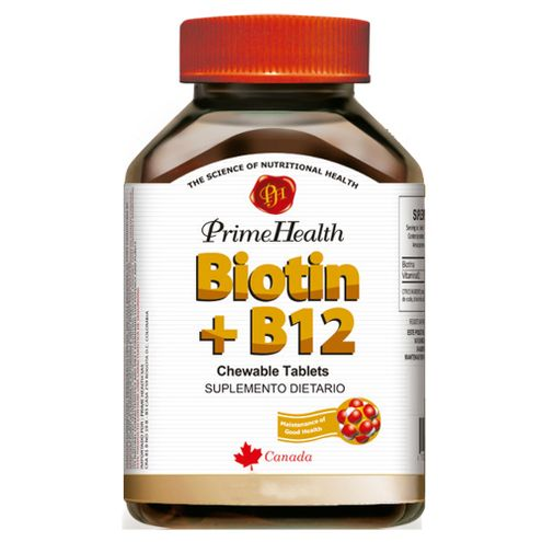 Comprar Biotin + B12 Prime Health X 60 Tabletas