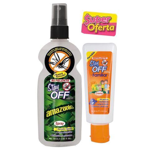 Comprar Repelente Stay Off Amazonic Spray 120ml + Crema X 60ml