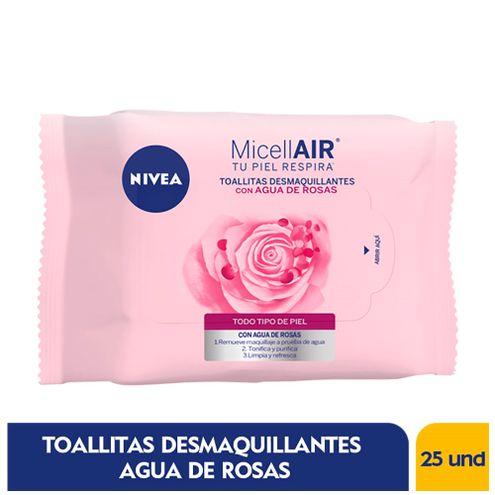 Comprar Toallitas Desmaquillantes Nivea Agua De Rosas X 25und