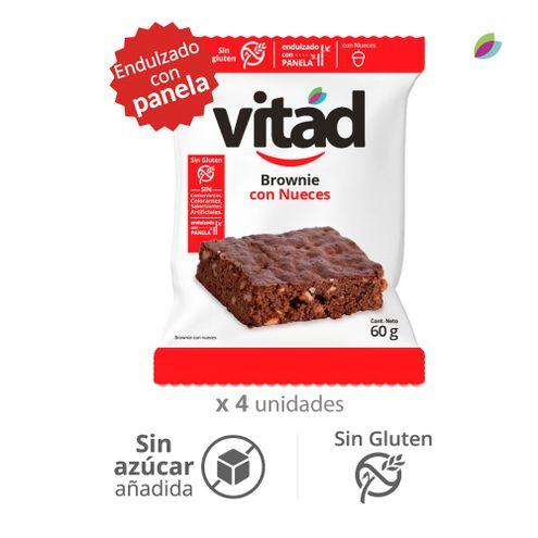 Comprar Brownie Vitad Con Nueces Sin Gluten Sin Azucar X 4und