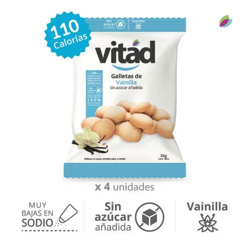 Comprar Galletas Vitad Vainilla Sin Azucar X 4und