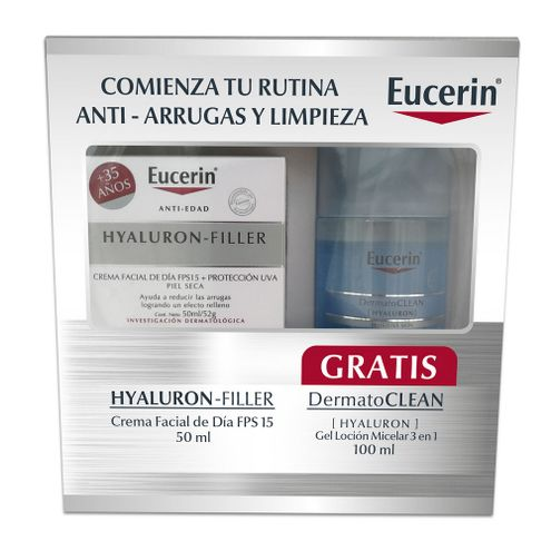 Comprar Crema Facial Eucerin Hyaluron Filler + Locion X 100ml