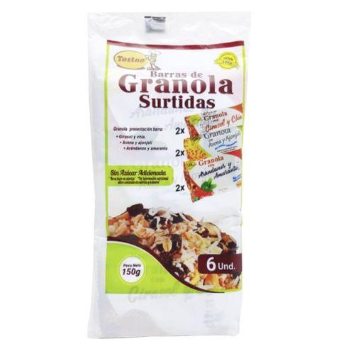 Comprar Barra Granola Tostao Surtidas X 6 X 150g