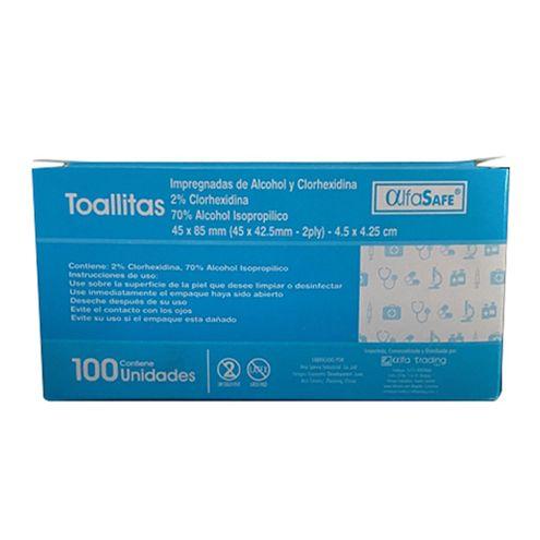 Comprar Toallitas Alfasafe Alcohol Y Clorhexidina X 100und