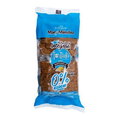 Comprar Tostadas Fitcook Integrales 0% Azucar Mantequilla X 140g