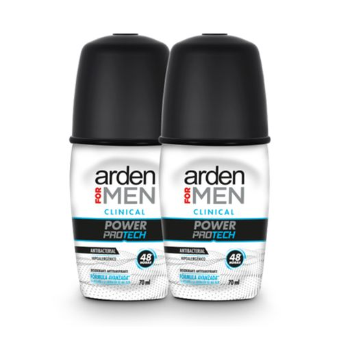 Comprar Desodorante Arden For Men Clinical Power Protech Roll-On X 2und