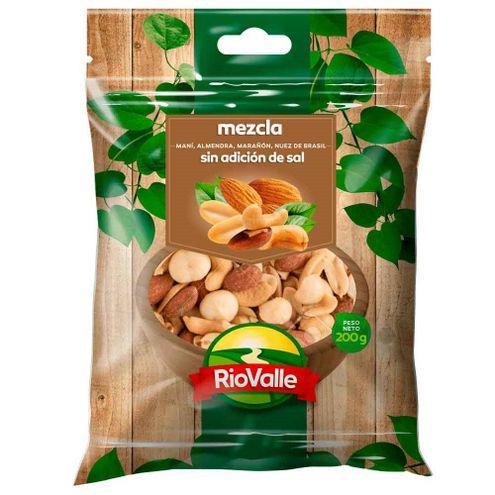 Comprar Mezcla Riovalle Frutos Secos Sin Sal X 200g