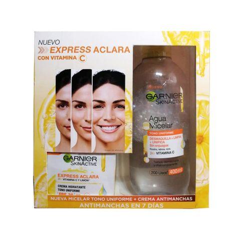 Comprar Kit Agua Micelar Garnier Skinactive + Crema Aclara