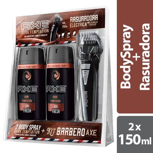 Comprar Desodorante Axe Dark Temptation 2 X 150ml + Rasuradora