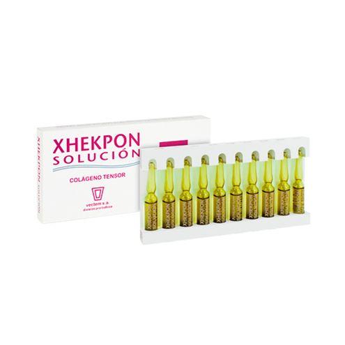 Comprar Xhekpon Solución Para Cara A Base De Colágeno Con Efecto Tensor Flash X 10 Ampolletas