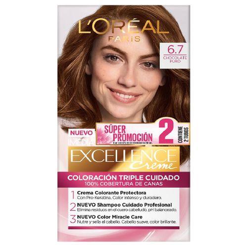 Comprar Tinte Excellence 6.7 Chocolate Puro X 2 Tubos