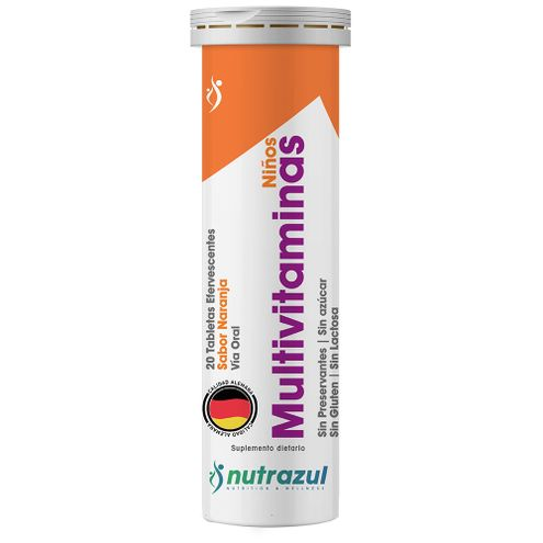 Comprar Multivitaminas Nutrazul Niños Naranja X 20 Tabletas