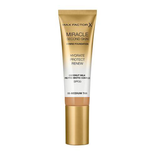 Comprar Base Max Factor Miracle Second Skin 08 Medium Tan