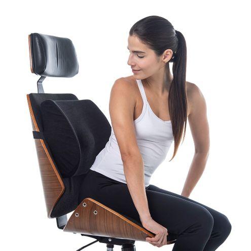 Comprar Cojin Ergonomico Espalda Talla Unica Tecnomed - Cojin Ergonomico De Espalda Azul Tecnomed
