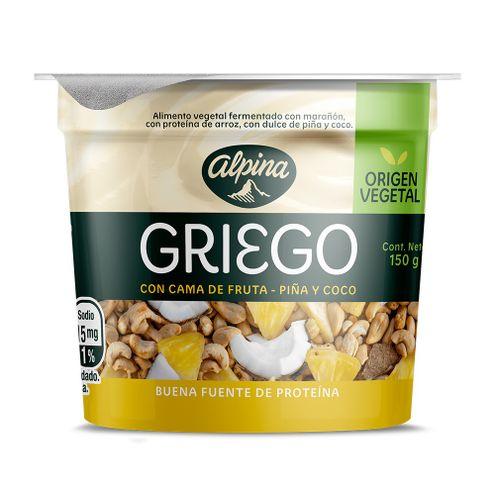 Comprar Yogurt Alpina Griego Piña/Coco X 150g