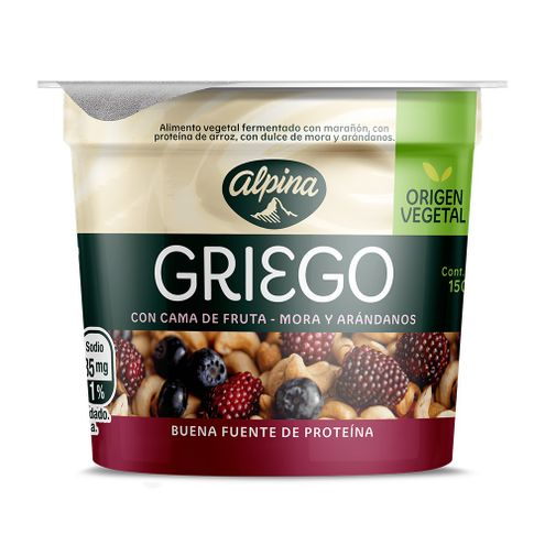 Comprar Yogurt Alpina Griego Mora Arandanos X 150g