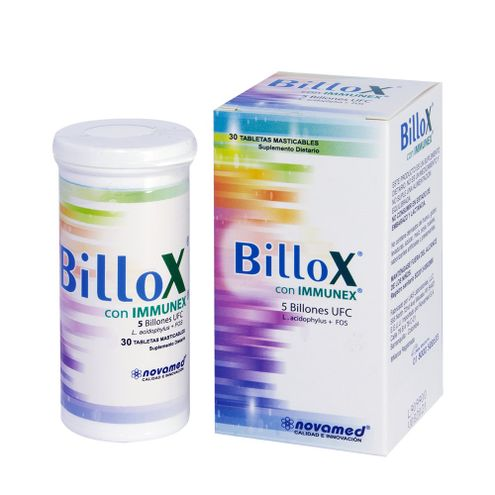 Comprar Billox Con Immunex Caja X 30 Tabletas - Billox Con Immunex Caja X 30 Tabletas