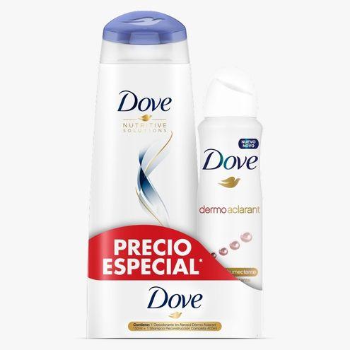Comprar Desodorante Dove Dermoaclarant X 150ml + Shampoo X 400ml