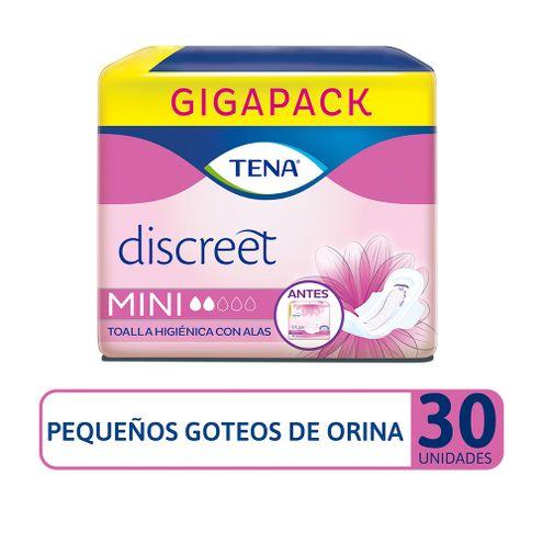 Comprar Toallas Higienicas Tena Discreet Mini Alas X 30und
