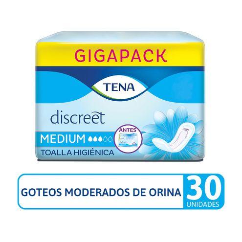 Comprar Toallas Higienicas Tena Discreet Medium X 30und