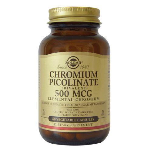 Comprar Chromium Picolinate 500mcg Solgar X 60 Capsulas