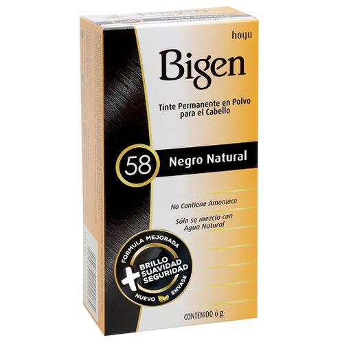 Comprar Tinte Bigen 58 Negro Natural X 6g