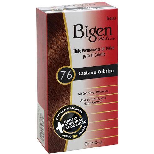 Comprar Tinte Bigen 76 Castaño Cobrizo X 6g